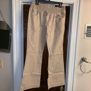 NEW Freestyle Revolution tan linen-look Pants XL
